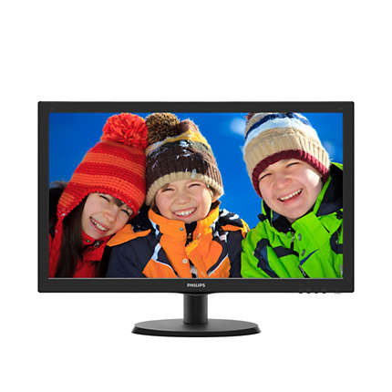 "21.5"" PHILIPS 223V5LHSB2/01 WIDE FULL HD (1920X1080) LED MONITOR  SIYAH VGA+HDMI 5Ms"